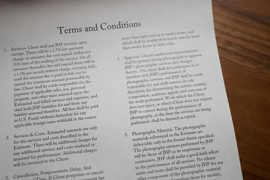 You're Sending Your Clients Terms & Conditions, Right?