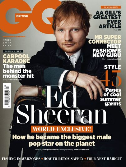 Ed Sheeran photographed by Norman Jean Roy for British GQ